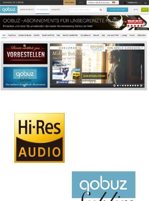 qobuz Hi-Res Audio Zertifizierung und qobuz Sublim-Abo