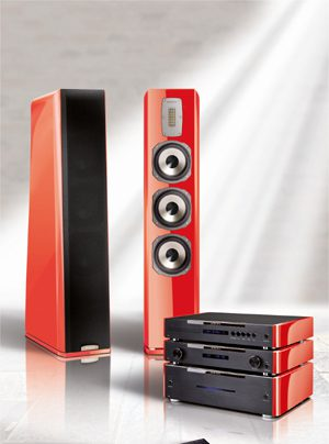 quadral Aurum Limited Edition 2014 Komplettanlage in Blutorange