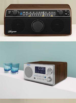 Sangean WR-12 und WR-22 Retro-Radios