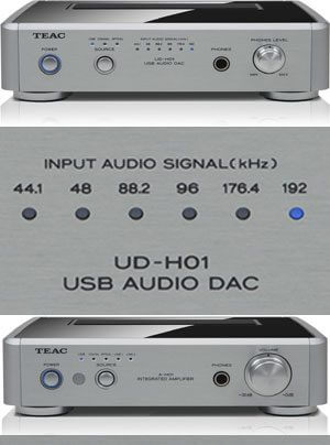 Teac Reference H-01 Serie mit A-H01 Power-DAC, UD-H01 DAC und DS-H01 Dockingstation