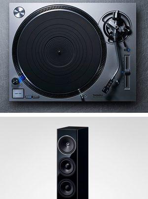 Technics Grand Class SL-1200GR Schallplattenspieler, SB-G90 Lautsprecher, SU-G700 Vollverstärker