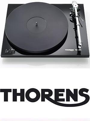 Plattenspieler Thorens TD 203 günstig vorjustiert und mit Einpunkt-Tonarm bestückt