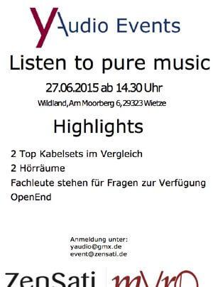 yAudio Club Listen to pure music Kabelhörvergleich